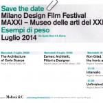 Milano Design Film Festival, l'evento a Roma e Venezia